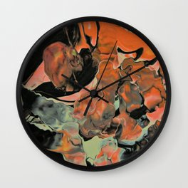 Fall Thoughts - Abstract Acrylic Painting Wall Clock