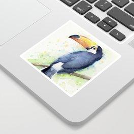 Toucan Tropical Bird Watercolor Sticker