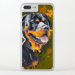 Rottweiler Clear iPhone Case