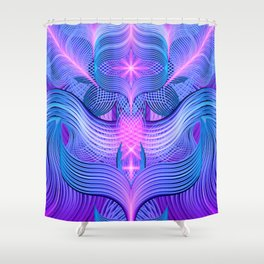 Dreaming Frequency Temple Shower Curtain
