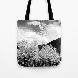 Aspens in Colorado Black & White Tote Bag