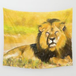 Magnificent Lion Wall Tapestry