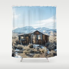 Lone Cabin Scene Shower Curtain