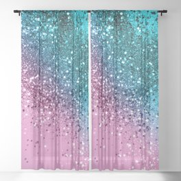 Tropical Beach Lady Glitter #8 #shiny #decor #art #society6 Sheer Curtain