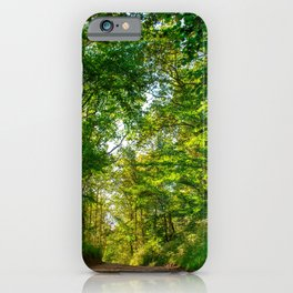 Green Road iPhone Case