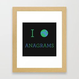 I heart Anagrams Framed Art Print