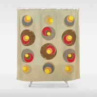 blankets Shower Curtains featuring Tendency by Metron
