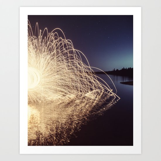 Sparking into the Lake Art Print