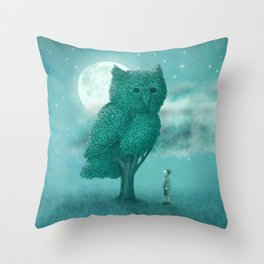 The Night Gardener - Cover Throw Pillow