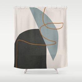 Minimal Abstract Art 3 Shower Curtain