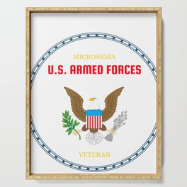 Micronesia U.S. Armed Forces Veteran Serving Tray