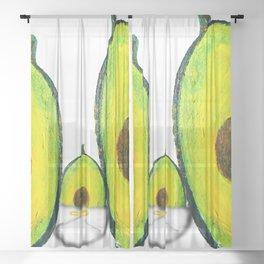 Baby Avocado we Love You Sheer Curtain
