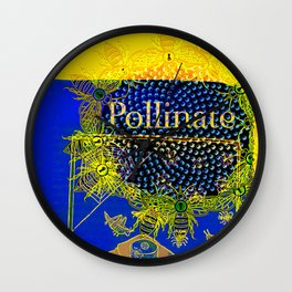 Pollinate Wall Clock