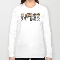 1d Long Sleeve T-shirts featuring Schulz Dancing 1D by Ashley R. Guillory