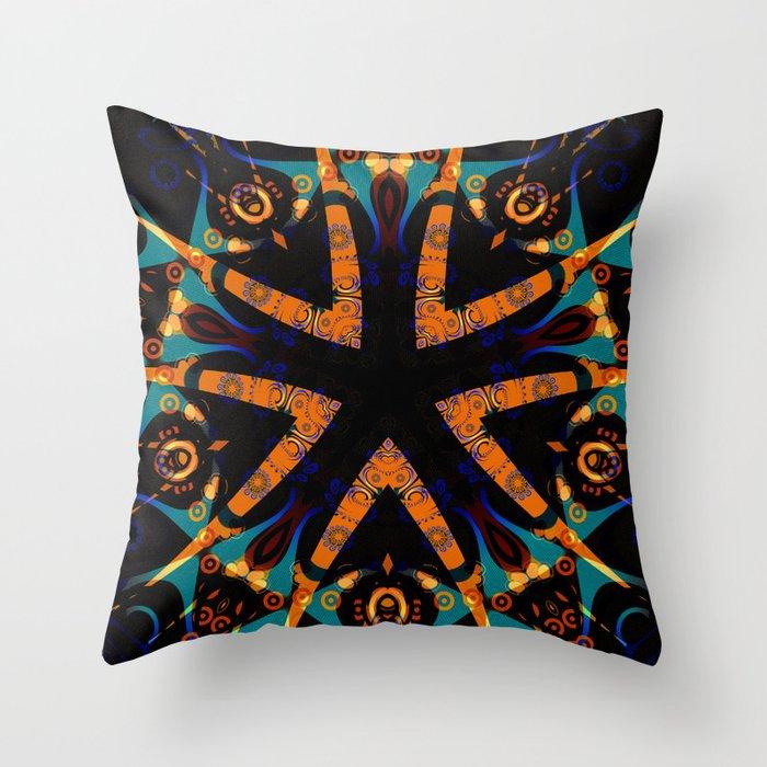 Tribal Geometric Throw Pillow