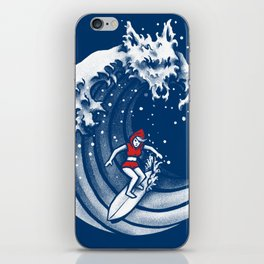 Little Red Surfing Hood iPhone Skin