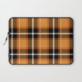 Orange + Black Plaid Laptop Sleeve