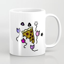 Pizza and Cat Balloons Coffee Mug
