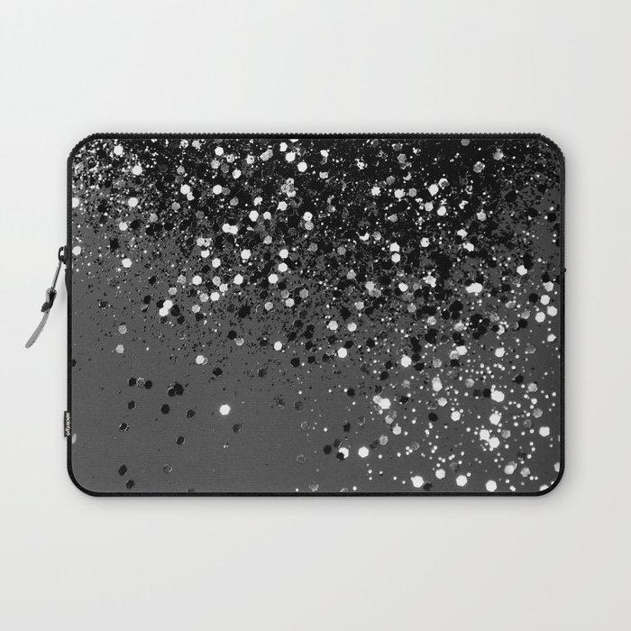Dark Gray Black Lady Glitter #1 #shiny #decor #art #society6 Laptop Sleeve