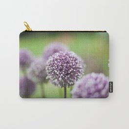 Purple Poms Carry-All Pouch