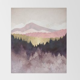 Plum Forest Throw Blanket