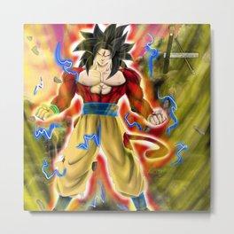 Goku super Saiyan 4 Metal Print