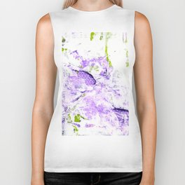 Lilacs and Lilies in the Field Biker Tank