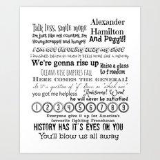 Hamilton Quotes Art Print