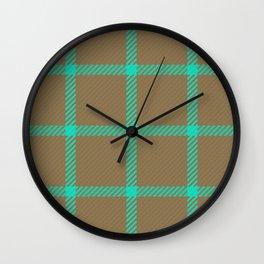 Mint & Sage Plaid Wall Clock