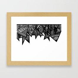 Triangle Henna Print- B+W Framed Art Print
