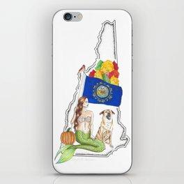 New Hampshire Mermaid iPhone Skin