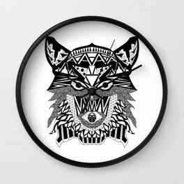 rebel werewolf ecopop Wall Clock