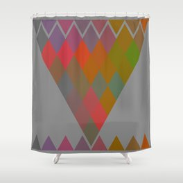 """""""Colorful Rhombus pattern"""" Shower Curtain"""