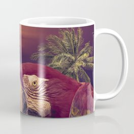 Tropical Style Collage Design Poster Coffee Mug
