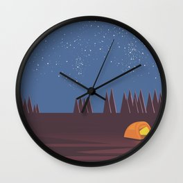 Camping under the Stars Wall Clock