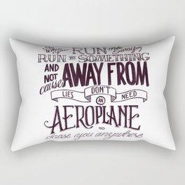 Weight of Lies Rectangular Pillow