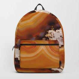 Orange Brown Agate Pattern #1 #gem #decor #art #society6 Backpack