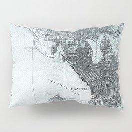 Vintage Seattle City Map Pillow Sham