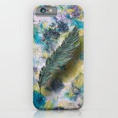 CRAYON LOVE: Aqua Feather iPhone 6s Slim Case