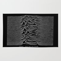 joy division Area & Throw Rugs featuring Joy Division by Abrian Sabo
