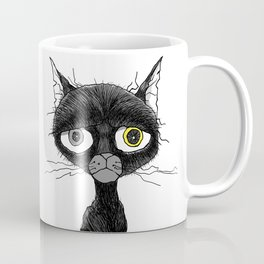 Ennui Black Cat Coffee Mug