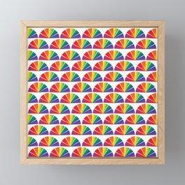 Rainbow Drag Queen Fan Shape Pride Parade Color Pattern Framed Mini Art Print