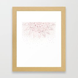 Elegant rose gold mandala confetti design Framed Art Print