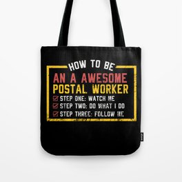 Awesome Postal Worker Tote Bag