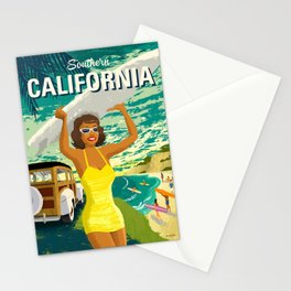 Southern California Travel Poster Stationery Cards