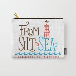 From Silt to Sea | Long Beach California Tribute | From Oil Workers to Surfers Carry-All Pouch