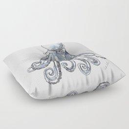 Octopus Watercolor Sketch Floor Pillow