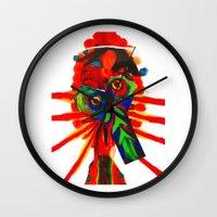 rare Wall Clocks featuring rare-ju by FUNCIT