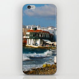 Seaside Cafe on Mykonos Island Greece iPhone Skin