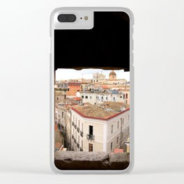 Cagliari city. Sardinia, Italy Clear iPhone Case
